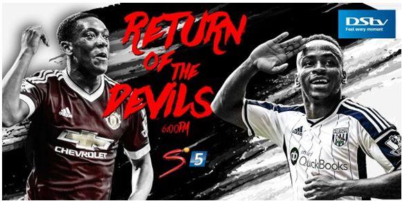 Man Utd vs West Brom Albion Supersport ad